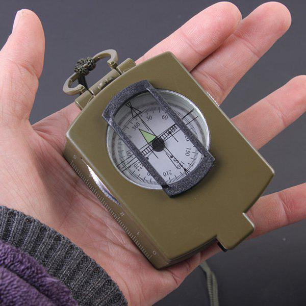 Portable Metal Military Multifunction Noctilucence CompassHome<br><br><br>Color: ARMY GREEN