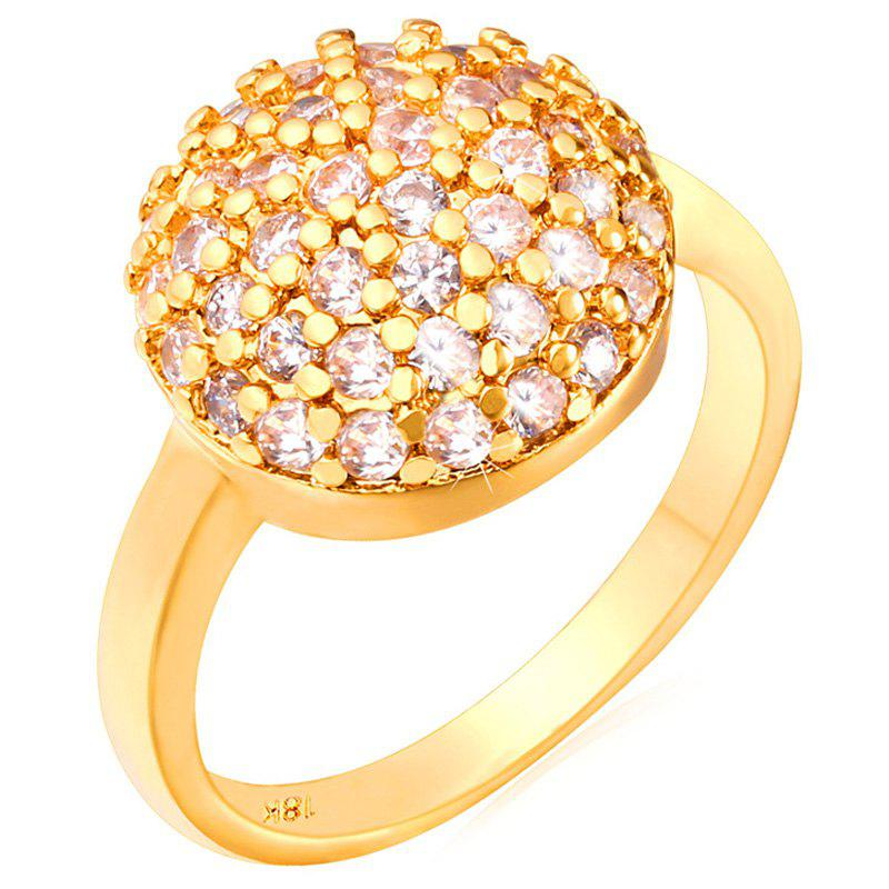 Blossom Rhinestoned Ring - GOLDEN ONE-SIZE