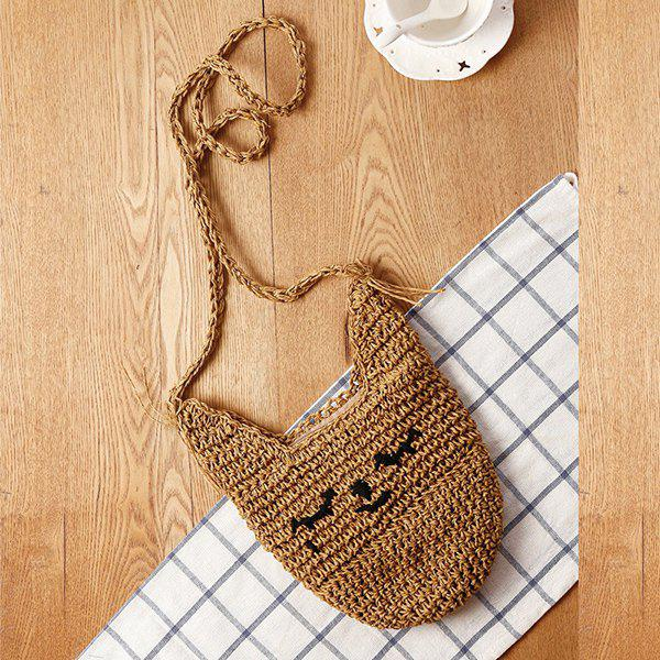 Casual Solid Color and Weaving Design Women's Coin Purse