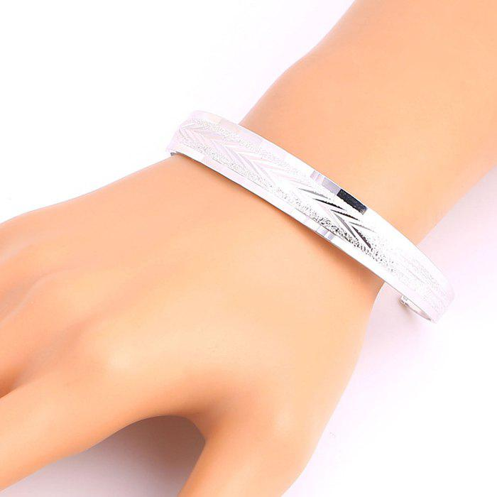Arrow Shape Embellished Plated Cuff Bracelet - SILVER