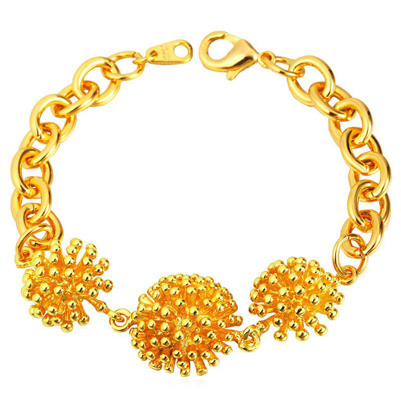 Alloy Hedgehog Shape Bracelet - GOLDEN