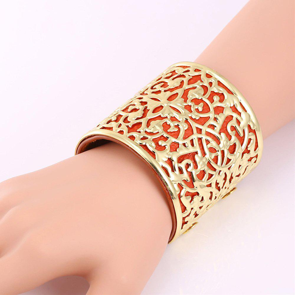 Hollow Out Carve Cuff Bracelet цена