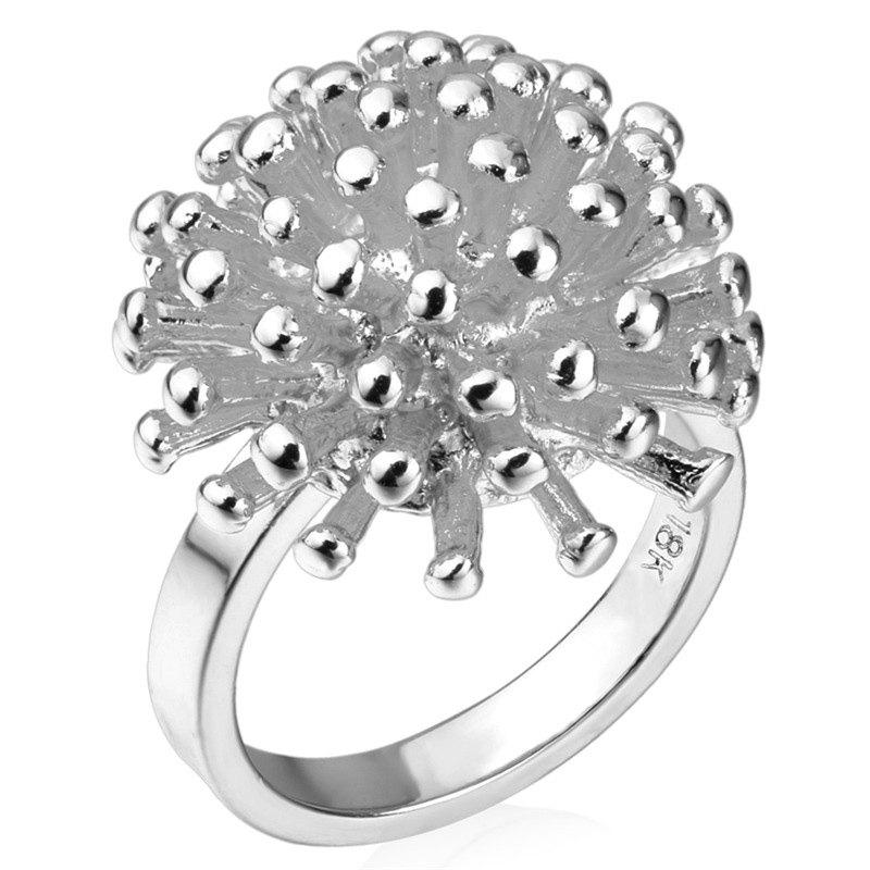 Hedgehog Shape Ring - SILVER ONE-SIZE