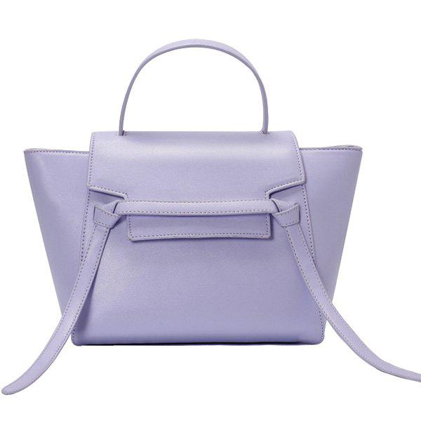 Laconic Solid Color and Strap Design Women's Tote Bag - LIGHT PURPLE