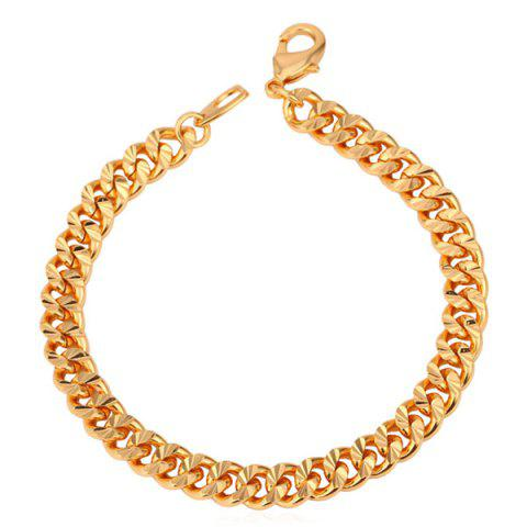 Stunning Solid Color Link Bracelet For Women - GOLDEN