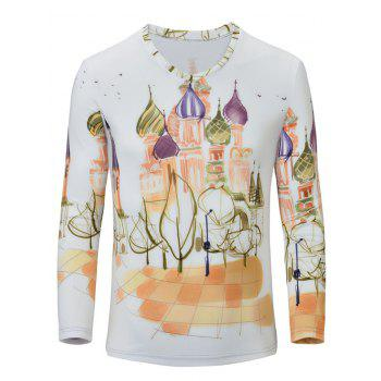 Casual Castle Printed Men's Long Sleeves T-Shirt