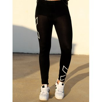 Modish Cross Printed Close-Fitting Elastic Waist Men's Sports Pants