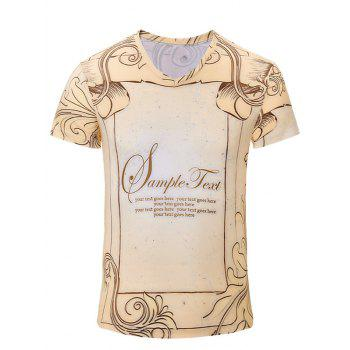 Trendy Men's Letters Printed Short Sleeves T-Shirt