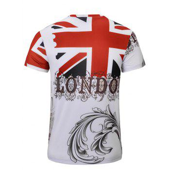 Casual Bus Printed Men's Short Sleeves T-Shirt - WHITE S
