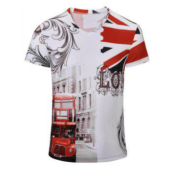 Casual Bus Printed Men's Short Sleeves T-Shirt