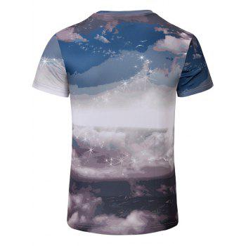 Casual Printed Men's Short Sleeves T-Shirt - COLORMIX S