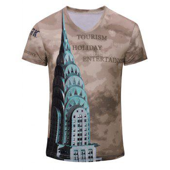 Casual Letter Printed Men's Short Sleeves T-Shirt