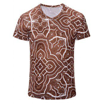 Casual Geometric Figure Printed Men's Short Sleeves T-Shirt