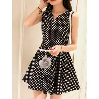Chic Sleeveless Slimming Polka Dot Women's Dress