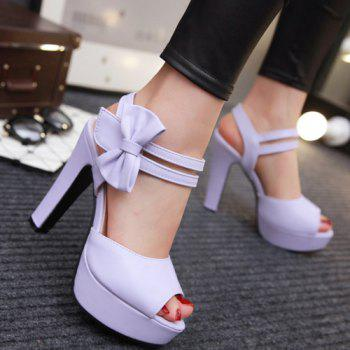 Stylish  and Bowknot Design Women's Sandals - 35 35
