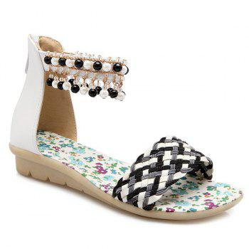 Sweet Weaving and Beading Design Women's Sandals
