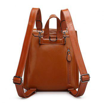 Preppy Solid Color and PU Leather Design Women's Satchel -  BLACK