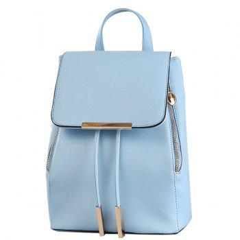 Casual Cover and Drawstring Design Women's Satchel