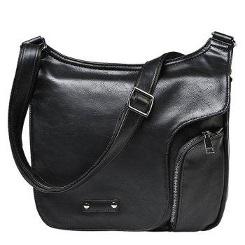 Casual Cover and Zip Design Men's Messenger Bag