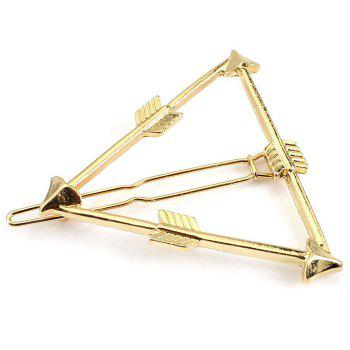 Buy Simple Solid Color Arrow Triangle Hairpin Women GOLDEN
