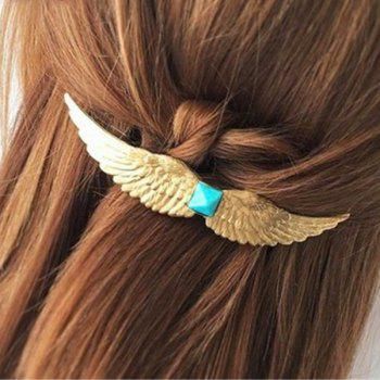 Simple Faux Gem Wing Hairpin For Women