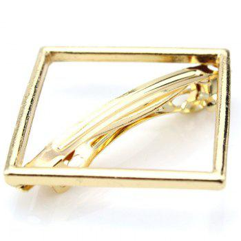 Simple Solid Color Hollow Out Square Hairpin For Women