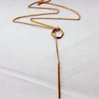 Long Rhombus Chainsaw Necklace - GOLDEN
