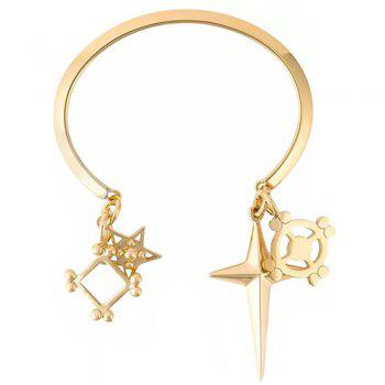 Cross Pentagram Cuff Bracelet
