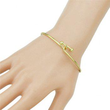 Polished Alloy Overlap Bracelet
