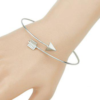 Arrow Shape Silver Cuff Bracelet