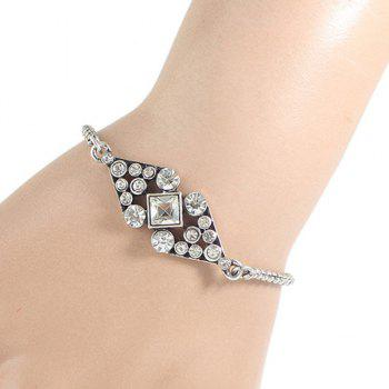 Rhinestone Hollow Out Bow Bracelet