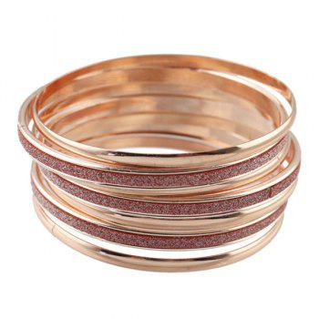 Glitter Powder Decorated Rose Gold Plated Bracelet - ROSE GOLD