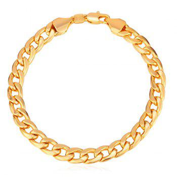 Plated Alloy Chain Bracelet