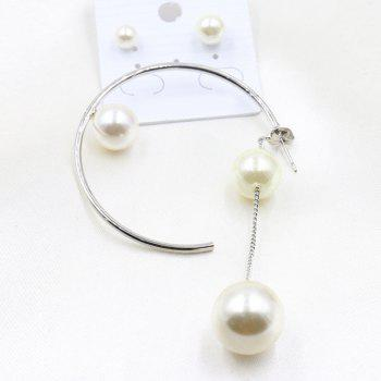 A Suit of Faux Pearl Earrings - WHITE