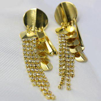 Pair of Rhinestone Sequins Earrings