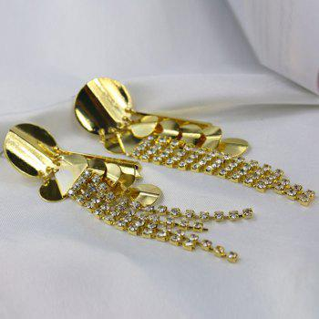 Pair of Rhinestone Sequins Earrings - GOLDEN