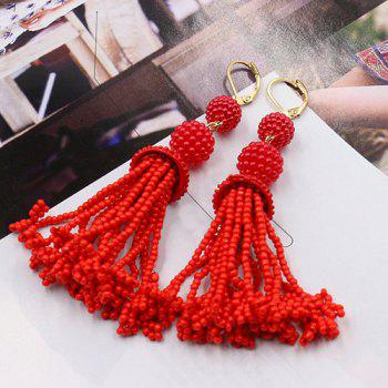 Pair of Beads Drop Earrings