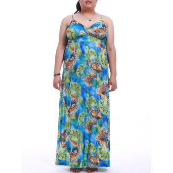 Plus Size Print Cami Dress