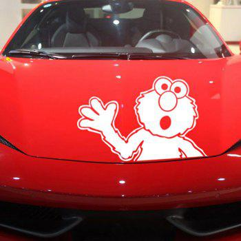 Chic Waterproof Sesame Street Pattern Car Sticker For Automotive Decorative Supplies