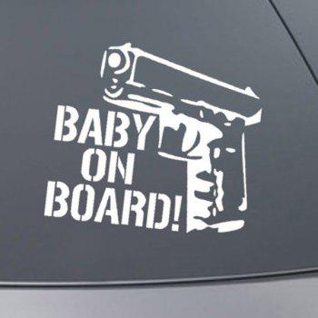 Chic Waterproof Gun Pattern Car Sticker For Automotive Decorative Supplies