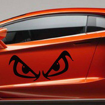 Casual Waterproof Angry Eyes Pattern Car Sticker For Automotive Decorative Supplies - BLACK