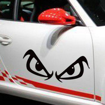 Casual Waterproof Angry Eyes Pattern Car Sticker For Automotive Decorative Supplies