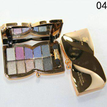 Cosmetic 10 Colours Sparkly Diamond Eye Shadow Palette with Mirror and Brush - #04