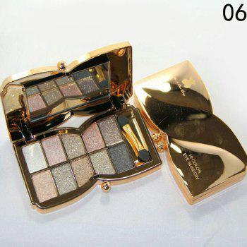 Cosmetic 10 Colours Sparkly Diamond Eye Shadow Palette with Mirror and Brush - #06
