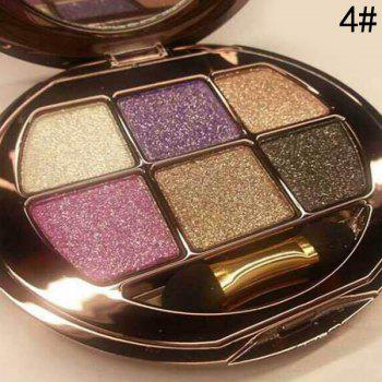 Cosmetic 6 Colours Sparkly Diamond Eye Shadow Palette with Mirror and Brush