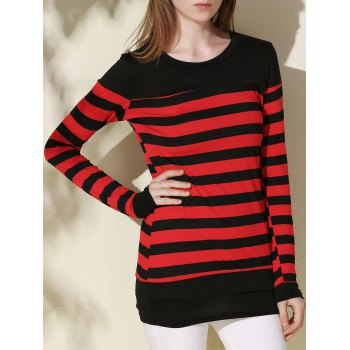 Long Sleeve Stripe Tunic Tee