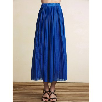 Stylish High Waist Pleated A-Line Women's Skirt
