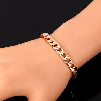 Plated Alloy Chain Bracelet - ROSE GOLD