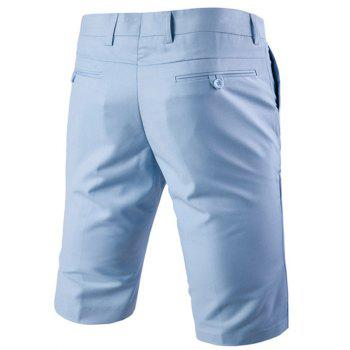 Men 's  Casual jambes droites Zip Fly Solide Couleur Shorts - Pers XL