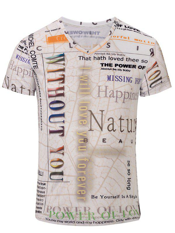 Casual Short Sleeves Bus Printed T-Shirt For Men - COLORMIX S